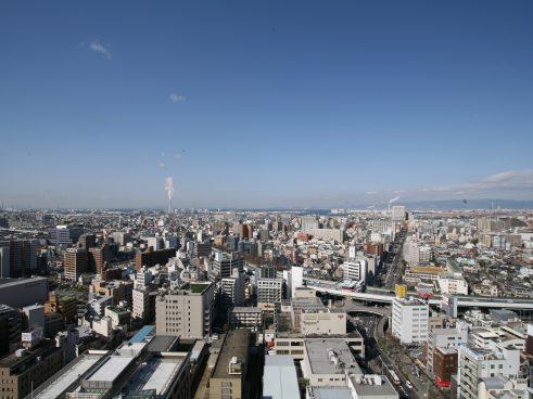 堺市風景(堺市役所21階展望ロビー)